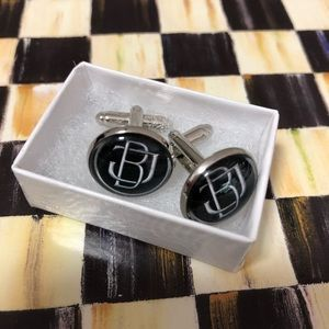 "🌟Cuff links🌟 Black/Silver. ""BJ"" or ""JB"""